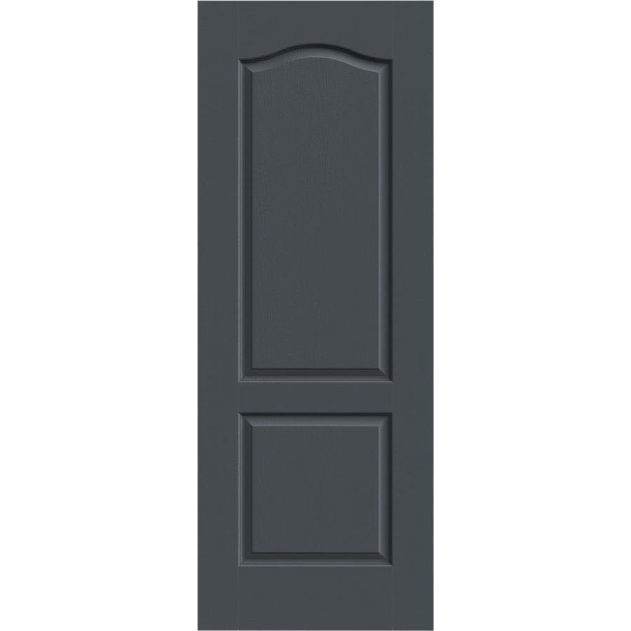 JELD-WEN Slate Solid Core 2-Panel Arch Top Slab Interior Door (Common: 30-in x 80-in; Actual: 30-in x 80-in)
