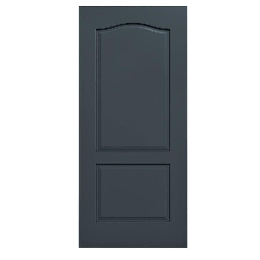 JELD-WEN Slate Solid Core 2-Panel Arch Top Slab Interior Door (Common: 36-in x 80-in; Actual: 36-in x 80-in)