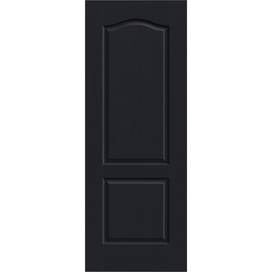 JELD-WEN Midnight Solid Core 2-Panel Arch Top Slab Interior Door (Common: 28-in x 80-in; Actual: 28-in x 80-in)