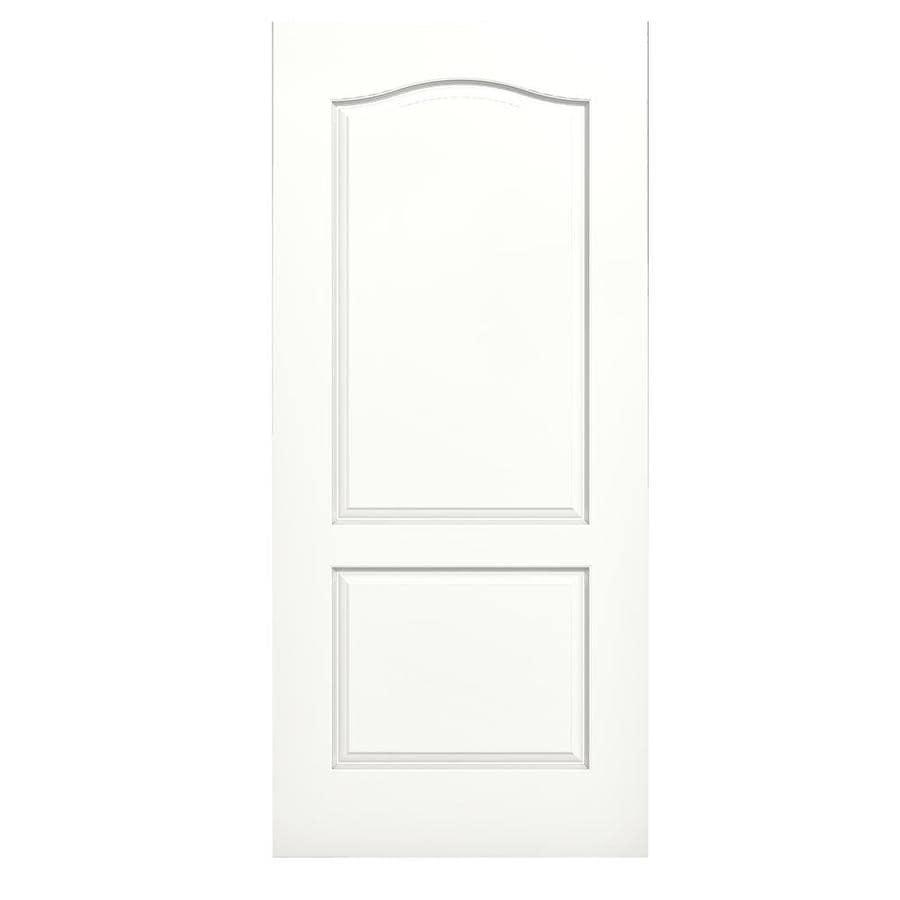 JELD-WEN Snow Storm Hollow Core 2-Panel Arch Top Slab Interior Door (Common: 36-in x 80-in; Actual: 36-in x 80-in)