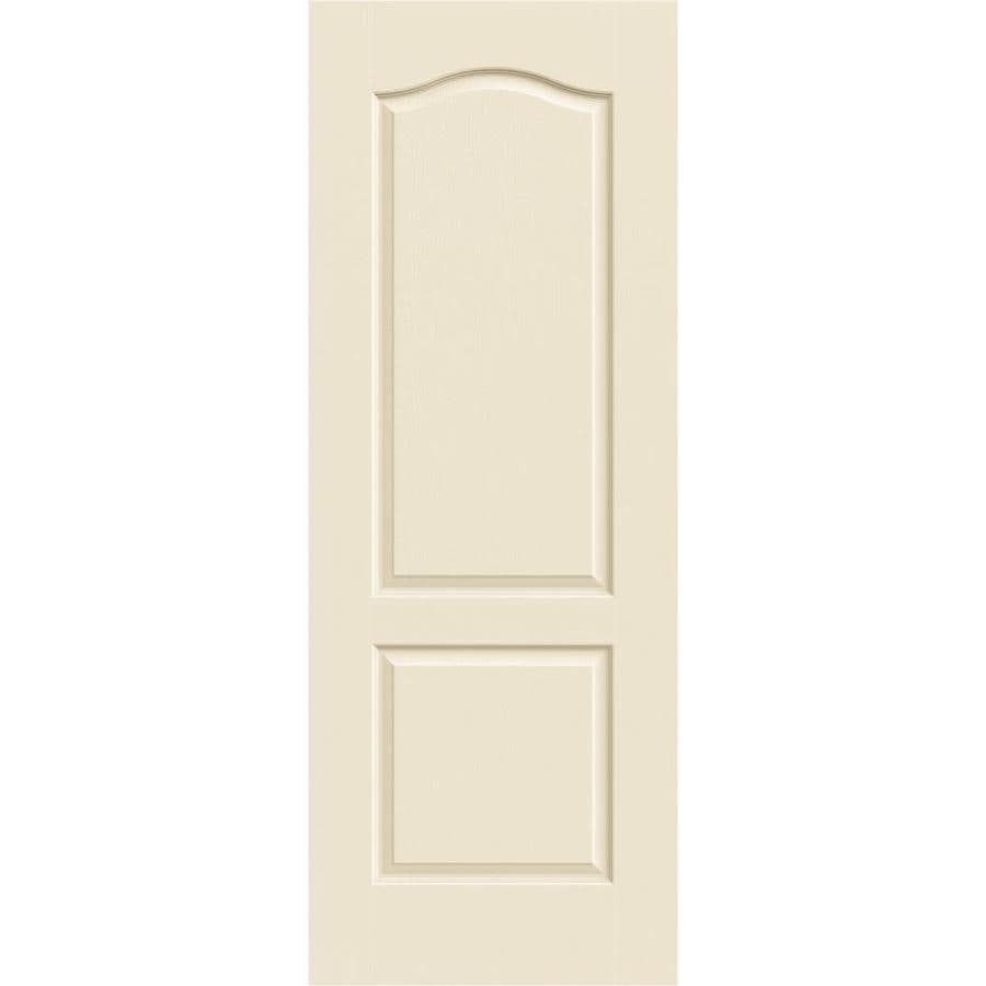 JELD-WEN Cream-N-Sugar Hollow Core 2-Panel Arch Top Slab Interior Door (Common: 32-in x 80-in; Actual: 32-in x 80-in)
