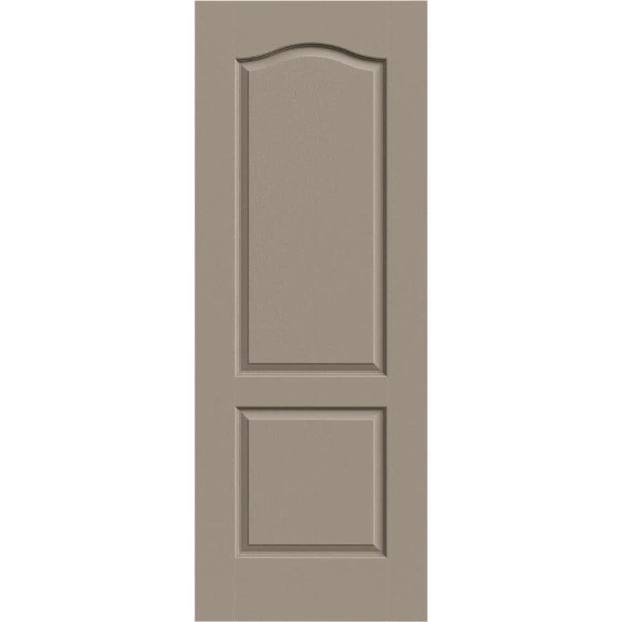 JELD-WEN Sand Piper Hollow Core 2-Panel Arch Top Slab Interior Door (Common: 24-in x 80-in; Actual: 24-in x 80-in)