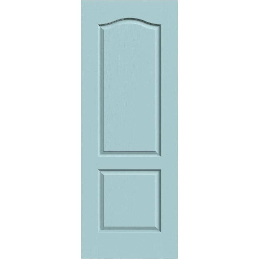 JELD-WEN Sea Mist Hollow Core 2-Panel Arch Top Slab Interior Door (Common: 24-in x 80-in; Actual: 24-in x 80-in)
