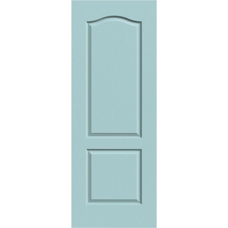 JELD-WEN Sea Mist Hollow Core 2-Panel Arch Top Slab Interior Door (Common: 32-in x 80-in; Actual: 32-in x 80-in)