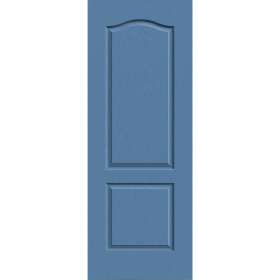 JELD-WEN Camden Blue Heron Slab Interior Door (Common: 30-in x 80-in; Actual: 30-in x 80-in)
