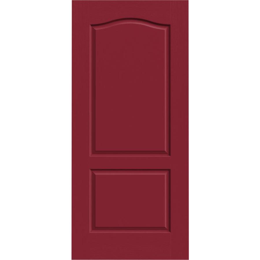 JELD-WEN Barn Red 2-panel Arch Top Slab Interior Door (Common: 36-in x 80-in; Actual: 36-in x 80-in)