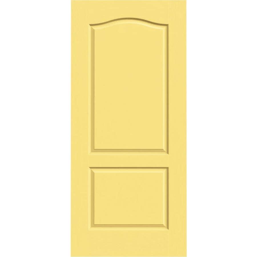 JELD-WEN Camden Marigold Hollow Core Molded Composite Slab Interior Door (Common: 36-in x 80-in; Actual: 36-in x 80-in)