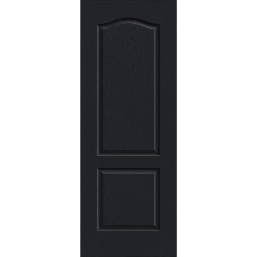 JELD-WEN Camden Midnight Hollow Core Molded Composite Slab Interior Door (Common: 28-in x 80-in; Actual: 28-in x 80-in)
