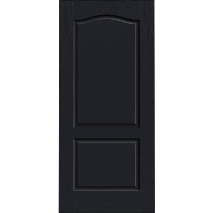 JELD-WEN Midnight Hollow Core 2-Panel Arch Top Slab Interior Door (Common: 36-in x 80-in; Actual: 36-in x 80-in)