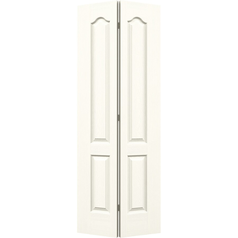 JELD-WEN Camden White Hollow Core Molded Composite Bi-Fold Closet Interior Door with Hardware (Common: 24-in x 80-in; Actual: 23.5000-in x 79-in)