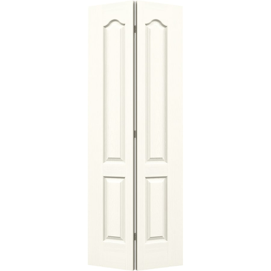 JELD-WEN Camden White Hollow Core Molded Composite Bi-Fold Closet Interior Door with Hardware (Common: 28-in x 80-in; Actual: 27.5-in x 79-in)