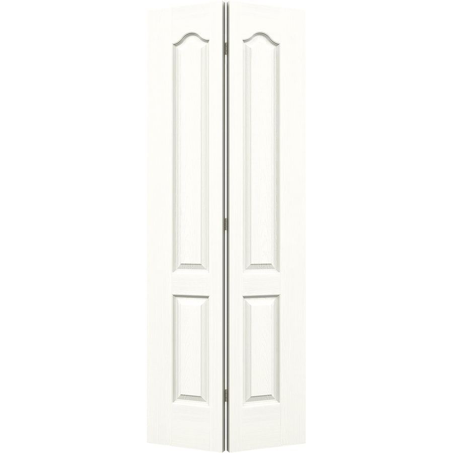 JELD-WEN Snow Storm Hollow Core 2-Panel Arch Top Bi-Fold Closet Interior Door (Common: 32-in x 80-in; Actual: 31.5-in x 79-in)