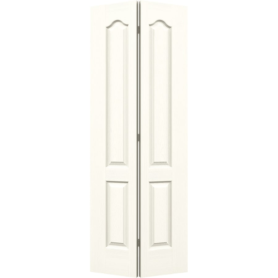JELD-WEN Camden Moonglow Hollow Core Molded Composite Bi-Fold Closet Interior Door with Hardware (Common: 30-in x 80-in; Actual: 29.5-in x 79-in)