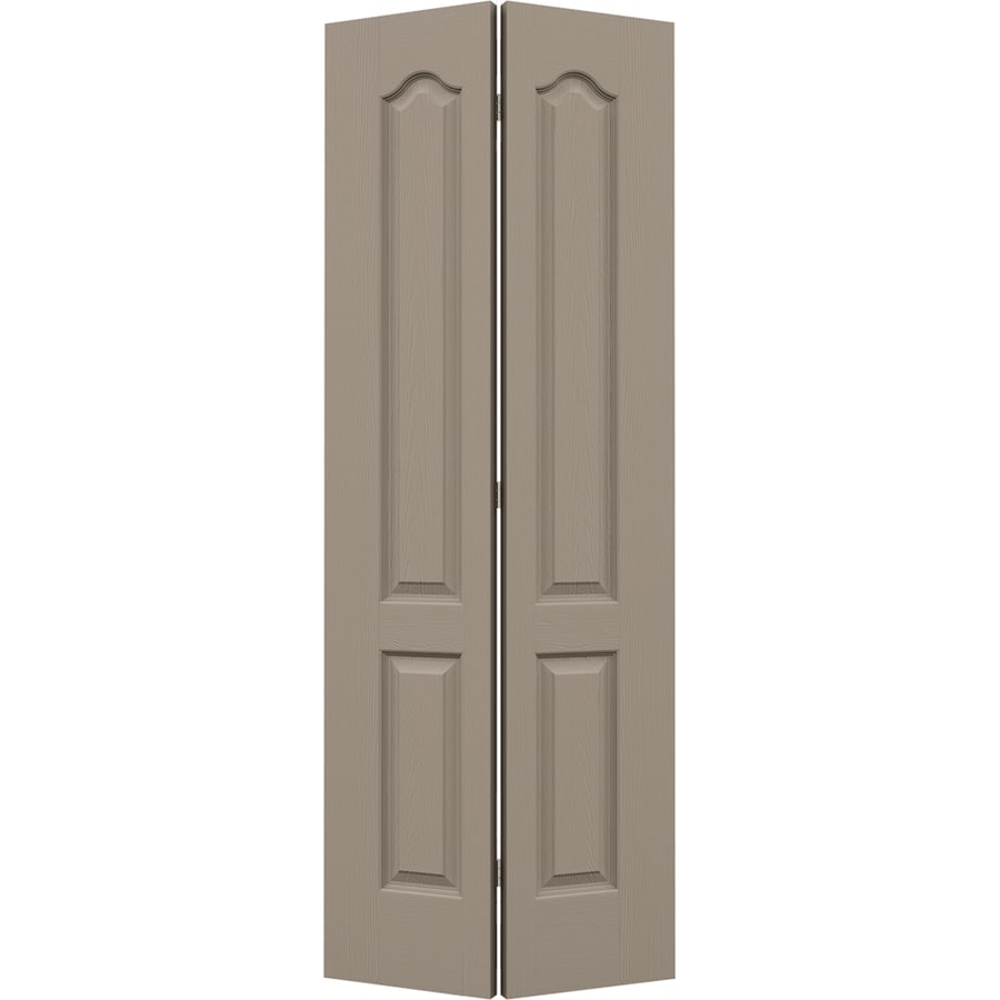 JELD-WEN Sand Piper Hollow Core 2-Panel Arch Top Bi-fold Closet Interior Door (Common: 28-in x 80-in; Actual: 27.5-in x 79-in)