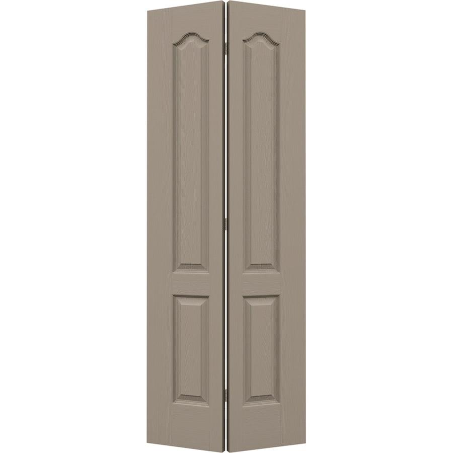 JELD-WEN Sand Piper Hollow Core 2-Panel Arch Top Bi-Fold Closet Interior Door (Common: 30-in x 80-in; Actual: 29.5-in x 79-in)