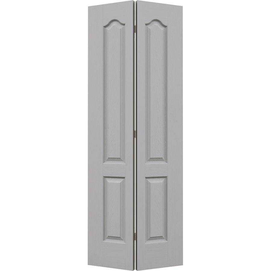 JELD-WEN Driftwood Hollow Core 2-Panel Arch Top Bi-Fold Closet Interior Door (Common: 24-in x 80-in; Actual: 23.5-in x 79-in)