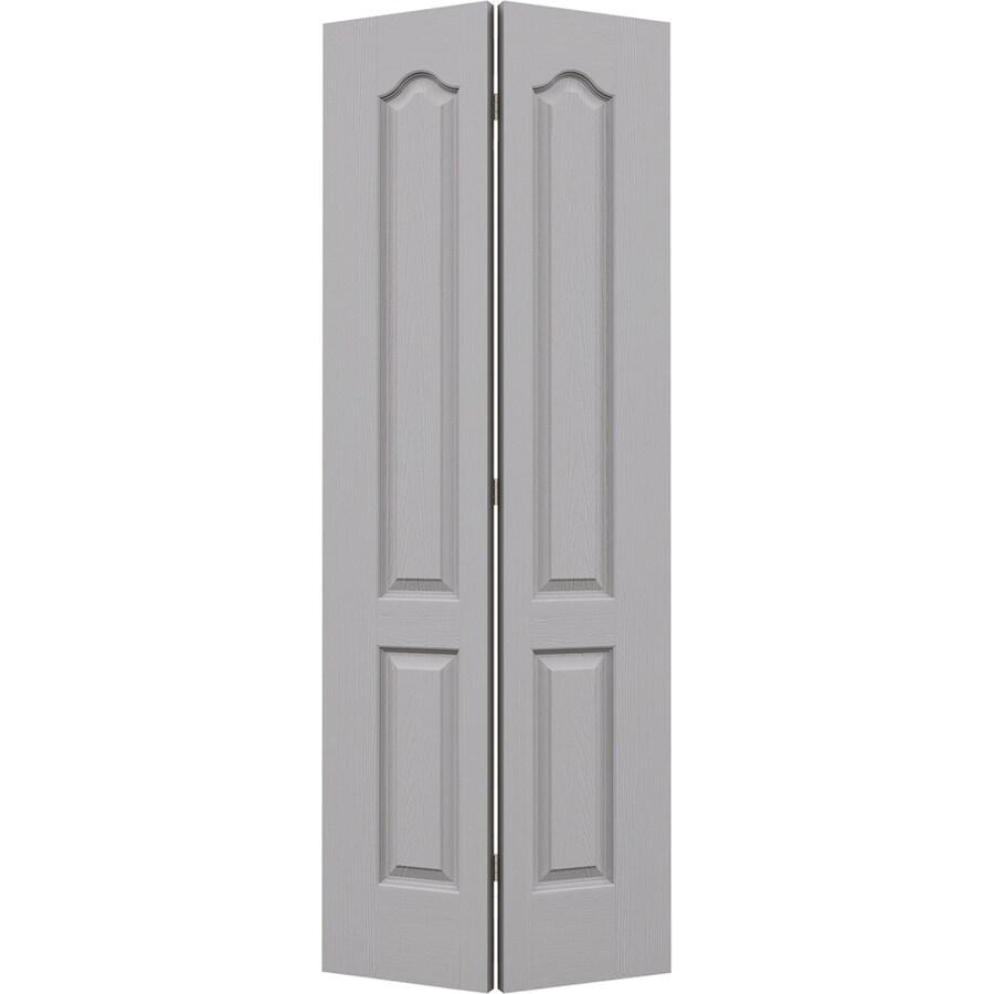 JELD-WEN Driftwood Hollow Core 2-Panel Arch Top Bi-Fold Closet Interior Door (Common: 28-in x 80-in; Actual: 27.5-in x 79-in)