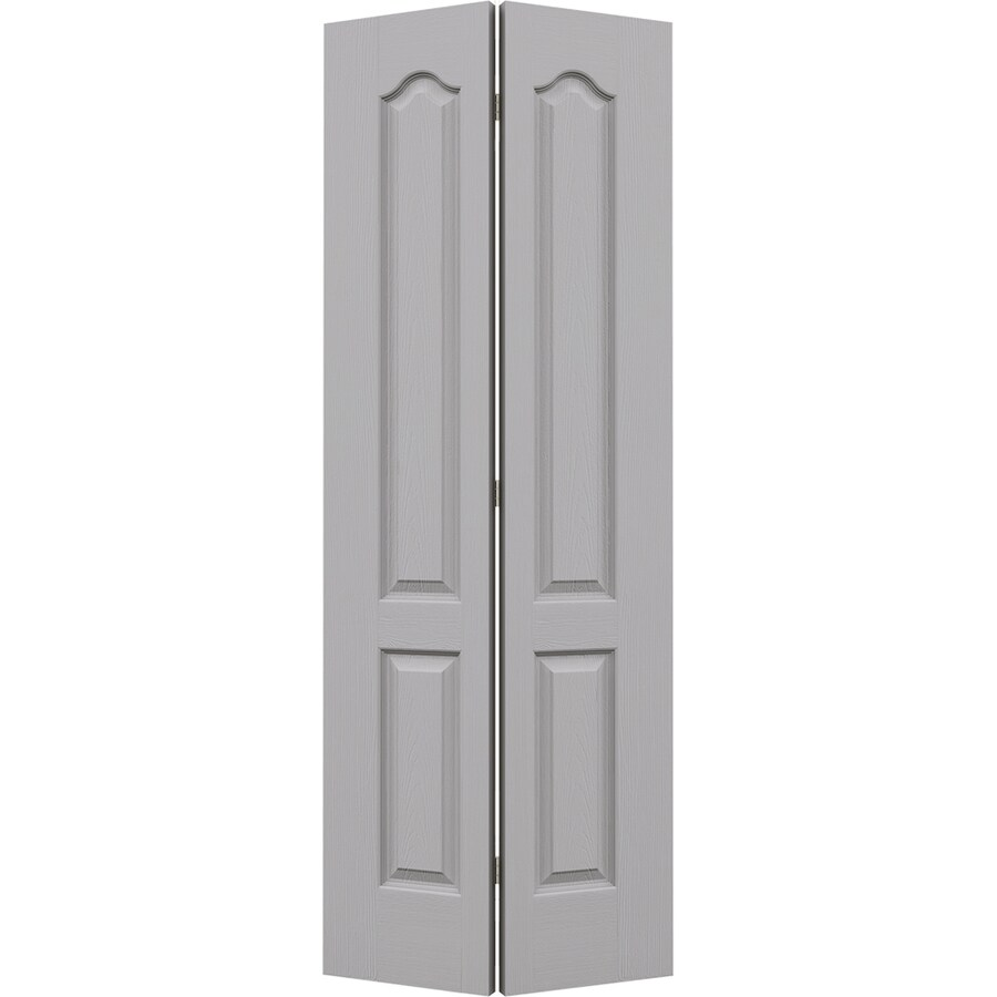 JELD-WEN Drift Hollow Core Molded Composite Bi-Fold Closet Interior Door with Hardware (Common: 28-in x 80-in; Actual: 27.5-in x 79-in)