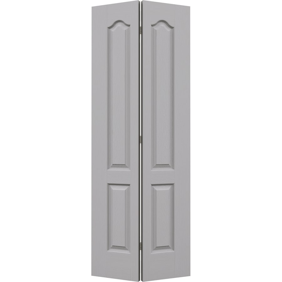 JELD-WEN Driftwood Hollow Core 2-Panel Arch Top Bi-Fold Closet Interior Door (Common: 30-in x 80-in; Actual: 29.5-in x 79-in)