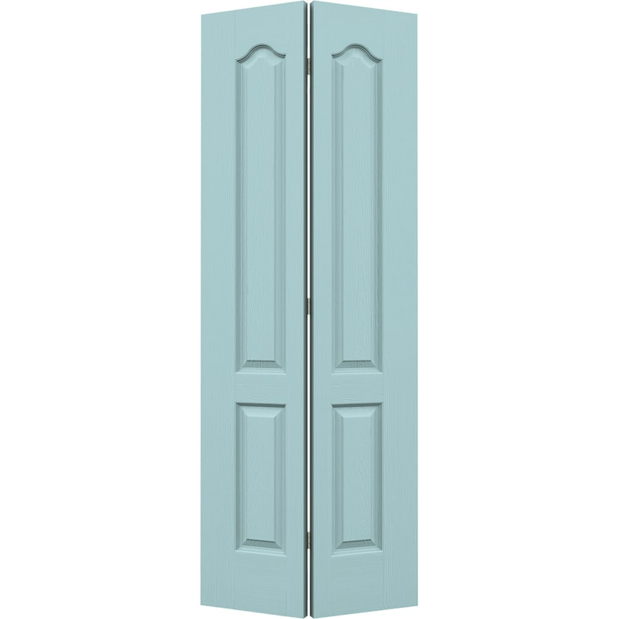 JELD-WEN Sea Mist Hollow Core 2-Panel Arch Top Bi-Fold Closet Interior Door (Common: 24-in x 80-in; Actual: 23.5-in x 79-in)