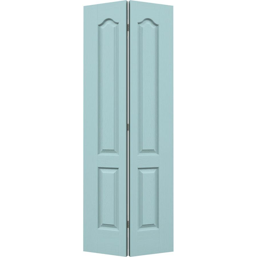 JELD-WEN Camden Sea Mist Hollow Core Molded Composite Bi-Fold Closet Interior Door with Hardware (Common: 30-in x 80-in; Actual: 29.5000-in x 79-in)