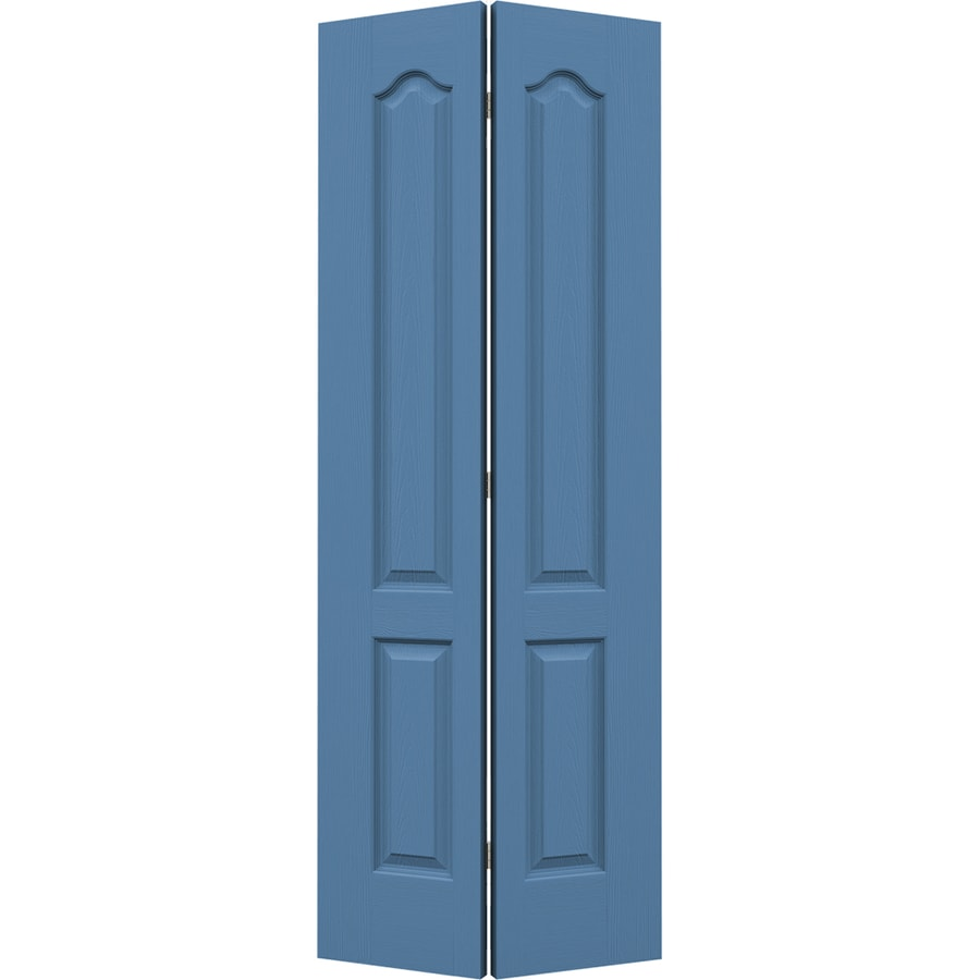 JELD-WEN Camden Blue Heron Hollow Core Molded Composite Bi-Fold Closet Interior Door with Hardware (Common: 28-in x 80-in; Actual: 27.5-in x 79-in)