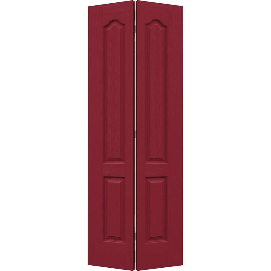 JELD-WEN Barn Red Hollow Core 2-Panel Arch Top Bi-Fold Closet Interior Door (Common: 28-in x 80-in; Actual: 27.5-in x 79-in)