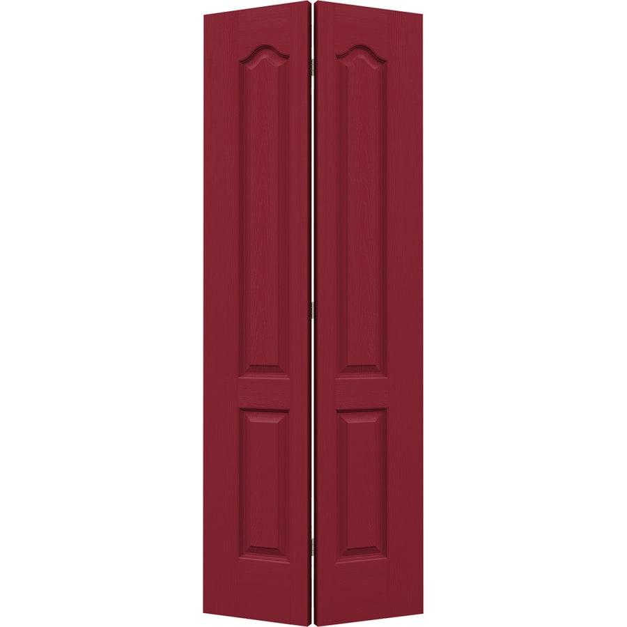 JELD-WEN Camden Barn Red Hollow Core Molded Composite Bi-Fold Closet Interior Door with Hardware (Common: 30-in x 80-in; Actual: 29.5000-in x 79-in)