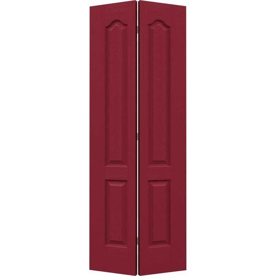 JELD-WEN Barn Red Hollow Core 2-Panel Arch Top Bi-Fold Closet Interior Door (Common: 32-in x 80-in; Actual: 31.5-in x 79-in)