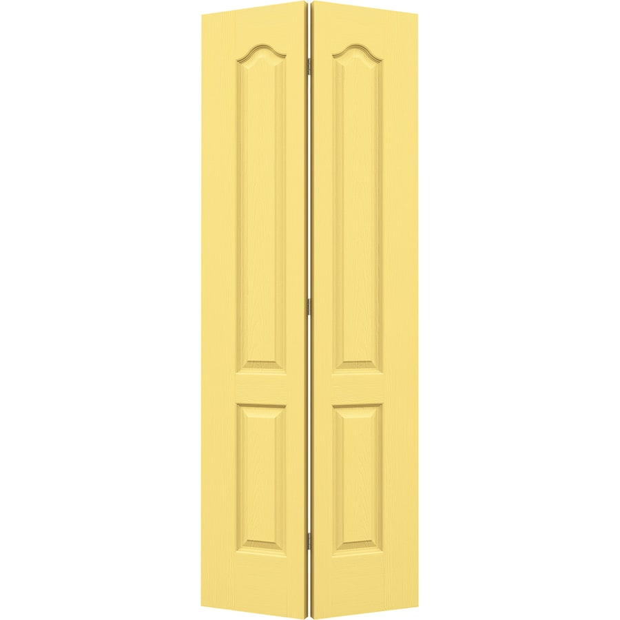 JELD-WEN Marigold Hollow Core 2-Panel Arch Top Bi-Fold Closet Interior Door (Common: 28-in x 80-in; Actual: 27.5-in x 79-in)