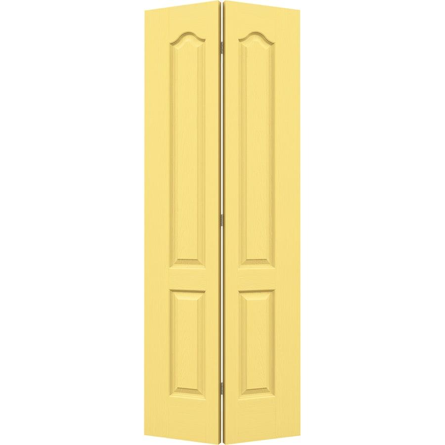 JELD-WEN Camden Marigold Bi-Fold Closet Interior Door (Common: 30-in x 80-in; Actual: 29.5-in x 79-in)