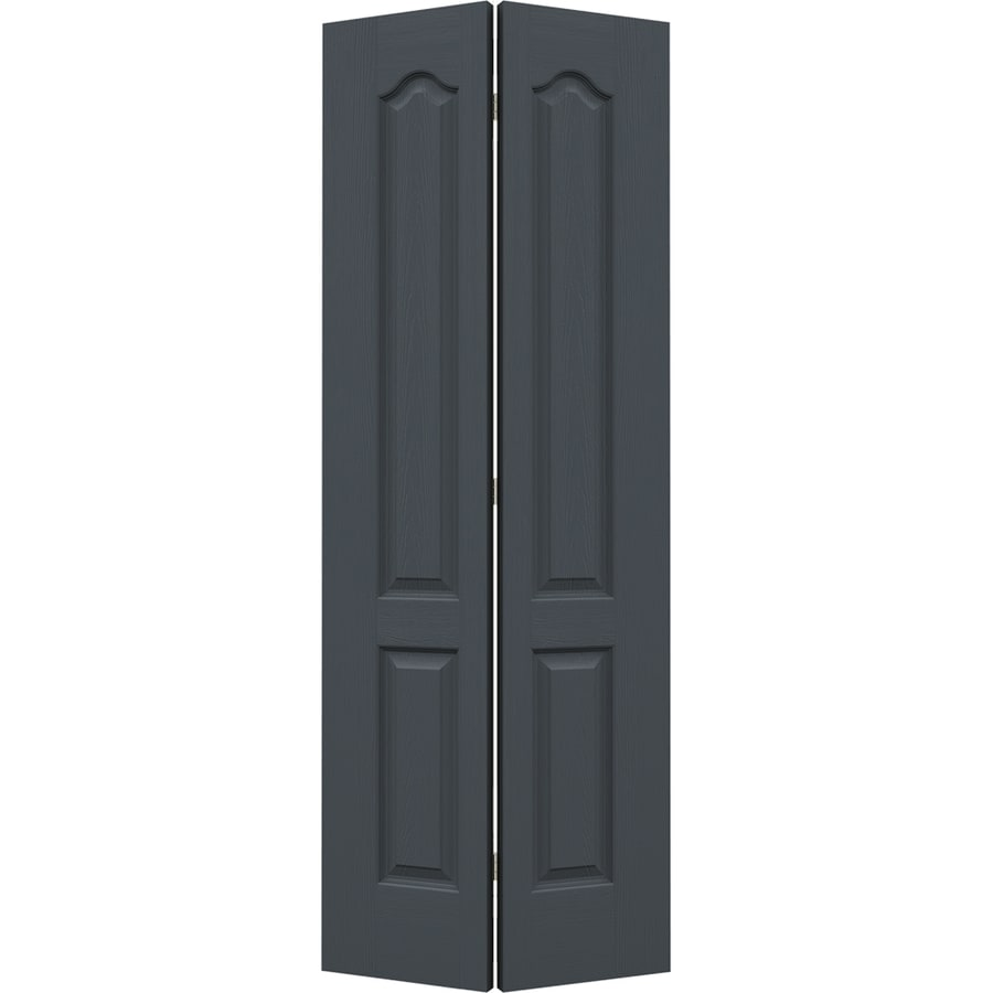 Shop jeld wen slate 2 panel arch top bi fold closet for 27 inch bifold interior doors