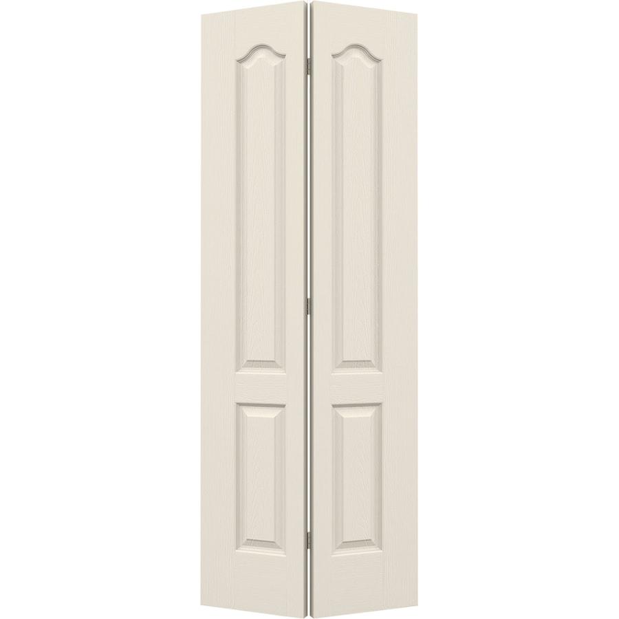 JELD-WEN Hollow Core 2-Panel Arch Top Bi-Fold Closet Interior Door (Common: 32-in x 80-in; Actual: 31.5-in x 79-in)