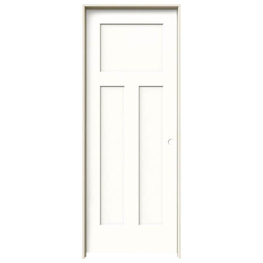 JELD-WEN Craftsman Snow Storm Hollow Core Molded Composite Single Prehung Interior Door (Common: 24-in x 80-in; Actual: 25.5620-in x 81.6880-in)