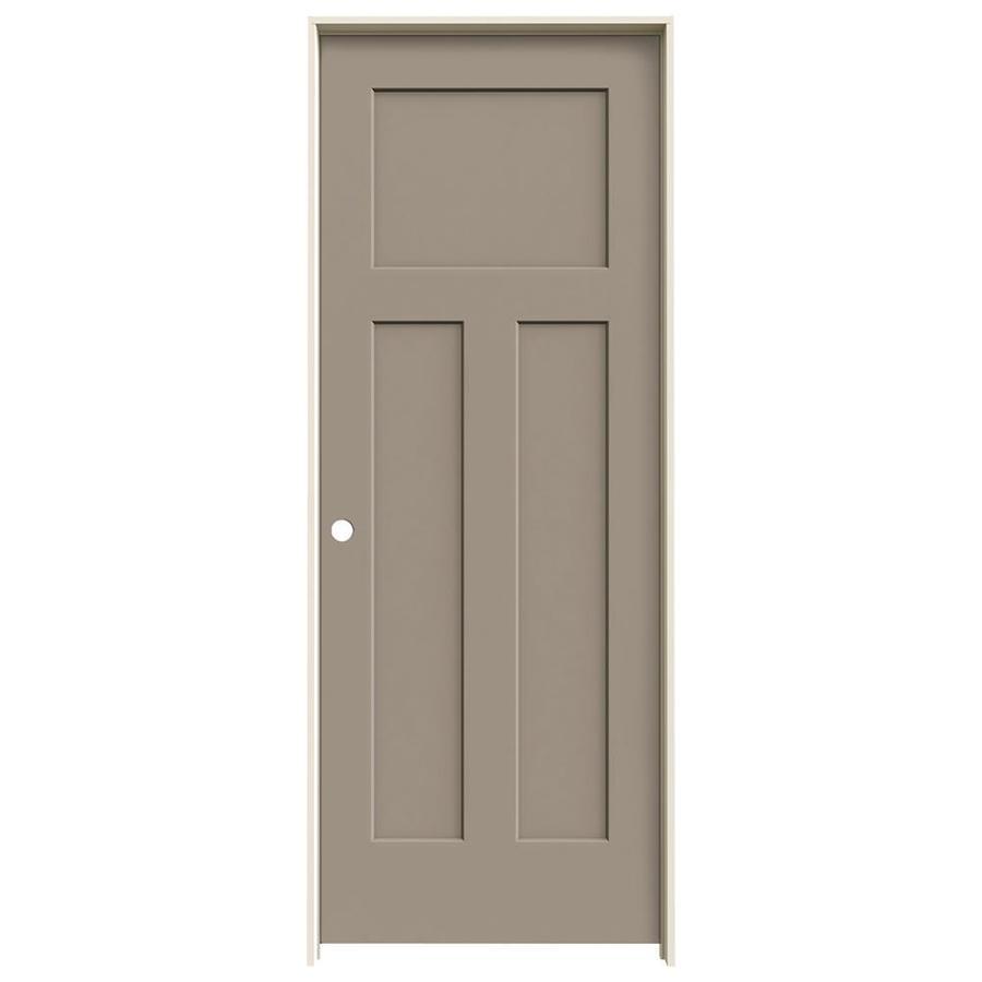JELD-WEN Craftsman Sand Piper Hollow Core Molded Composite Single Prehung Interior Door (Common: 30-in x 80-in; Actual: 31.5620-in x 81.6880-in)
