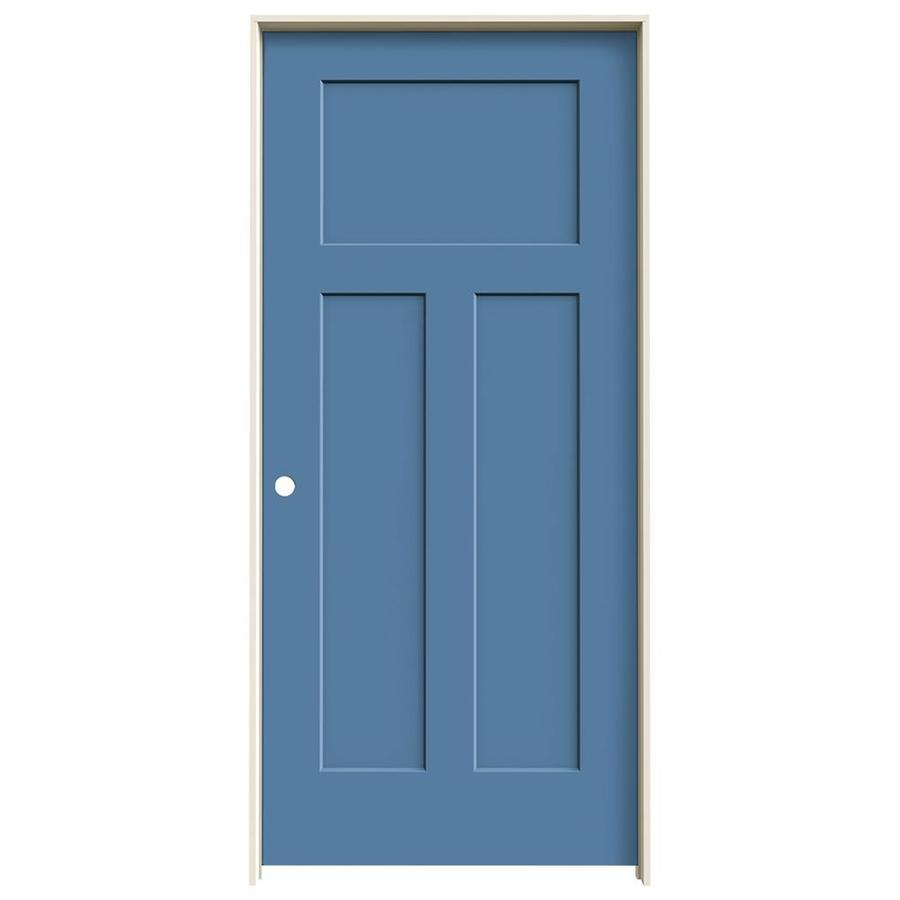 JELD-WEN Craftsman Blue Heron Prehung Hollow Core 3-Panel Craftsman Interior Door (Common: 36-in x 80-in; Actual: 37.5620-in x 81.6880-in)