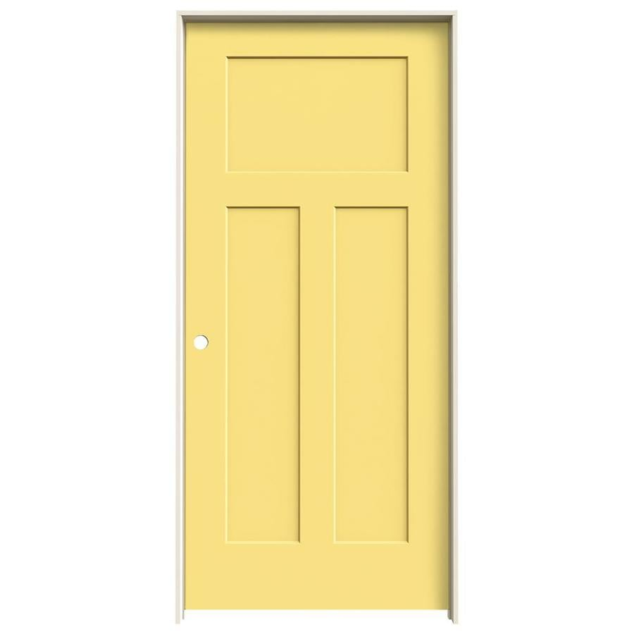 JELD-WEN Craftsman Marigold Hollow Core Molded Composite Single Prehung Interior Door (Common: 36-in x 80-in; Actual: 37.5620-in x 81.6880-in)