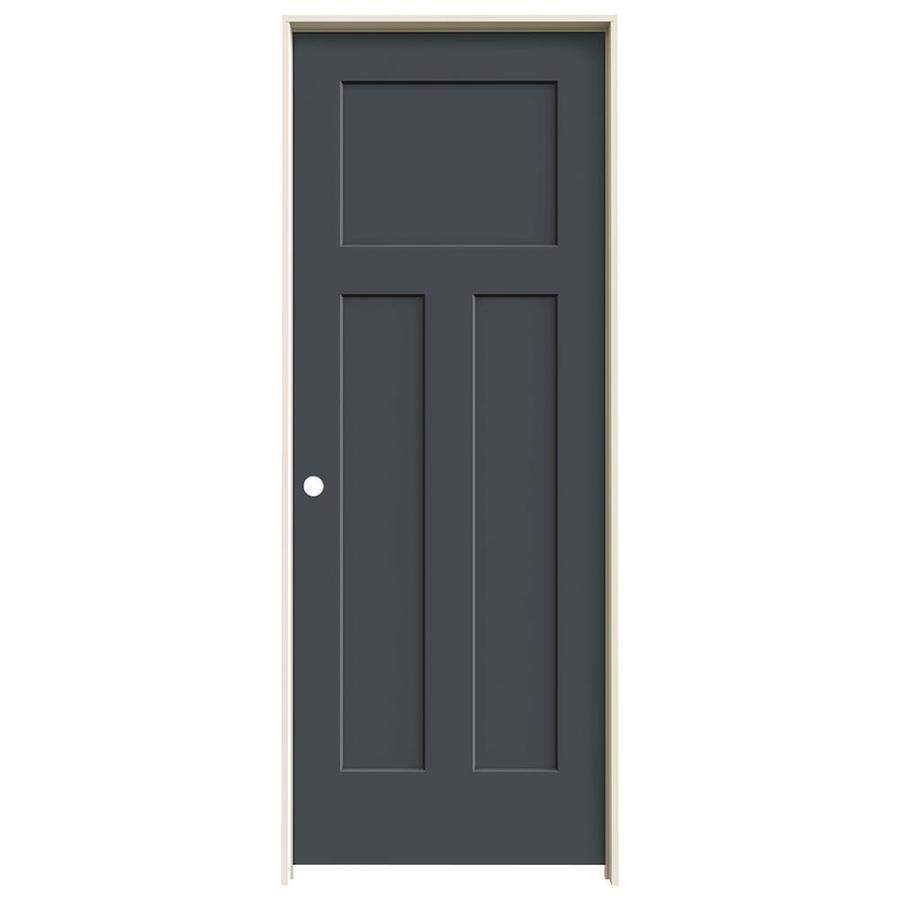 JELD-WEN Craftsman Slate Hollow Core Molded Composite Single Prehung Interior Door (Common: 28-in x 80-in; Actual: 29.562-in x 81.688-in)