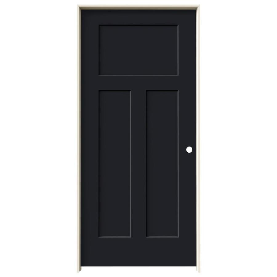 JELD-WEN Craftsman Midnight Single Prehung Interior Door (Common: 36-in x 80-in; Actual: 37.5620-in x 81.6880-in)