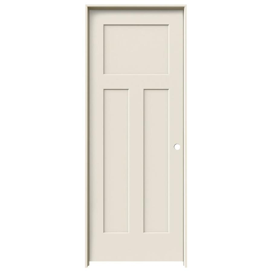 JELD-WEN Prehung Hollow Core 3-Panel Craftsman Interior Door (Common: 28-in x 80-in; Actual: 29.562-in x 81.688-in)