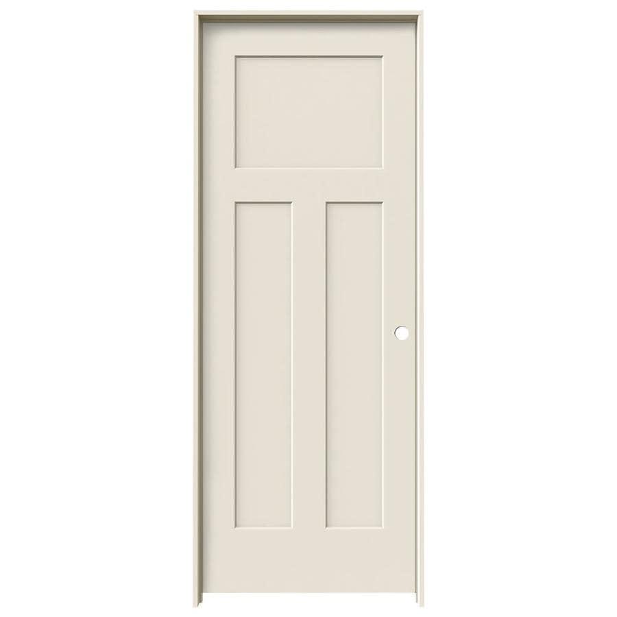 Jeld wen craftsman primed 3 panel craftsman hollow core - Single panel prehung interior doors ...