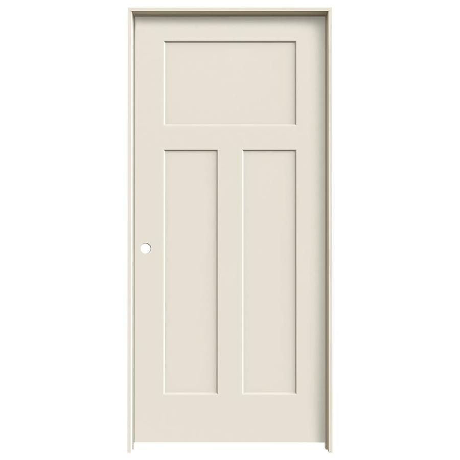 JELD-WEN Craftsman Primed Hollow Core Molded Composite Single Prehung Interior Door (Common: 36-in x 80-in; Actual: 37.562-in x 81.688-in)