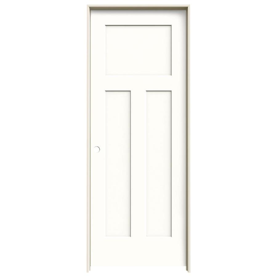 JELD-WEN Craftsman Snow Storm Single Prehung Interior Door (Common: 32-in x 80-in; Actual: 33.5620-in x 81.6880-in)