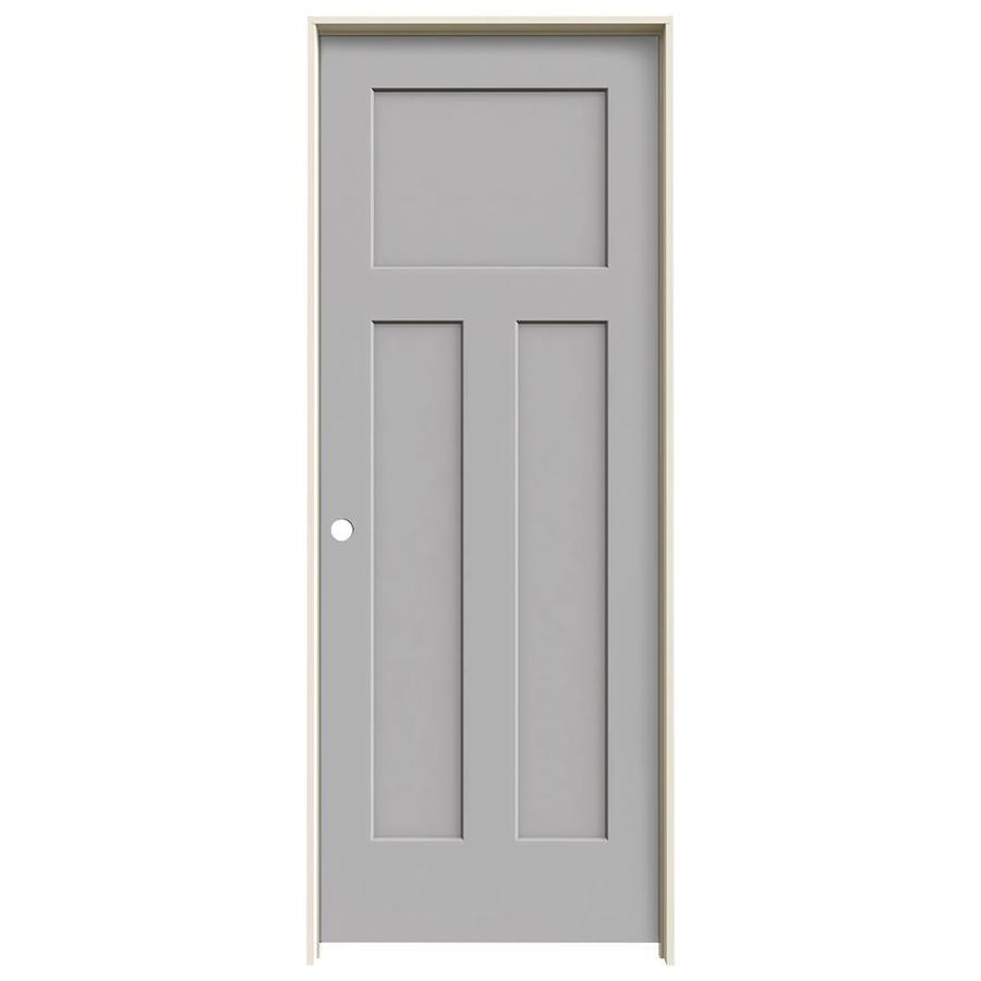 JELD-WEN Craftsman Driftwood Single Prehung Interior Door (Common: 30-in x 80-in; Actual: 31.5620-in x 81.6880-in)