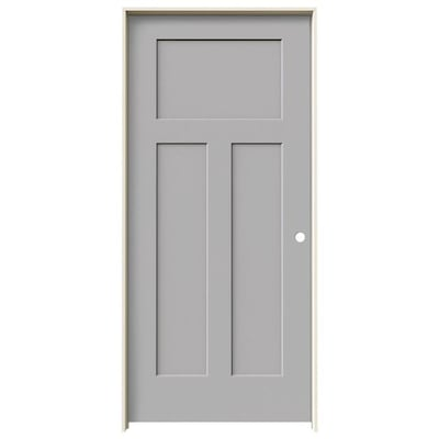 sports shoes e58e6 f316d Craftsman Driftwood 3-Panel Solid Core Molded Composite Door (Common: 36-in  X 80-in; Actual: 37.5625-in x 81.6875-in)