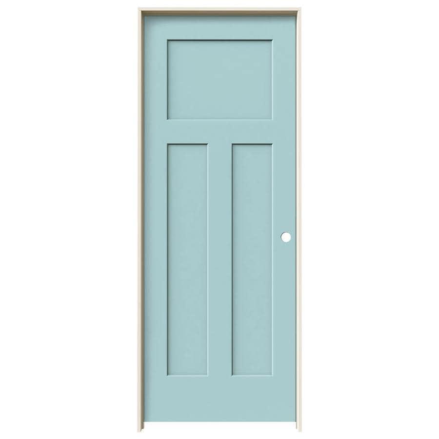 JELD-WEN Craftsman Sea Mist Solid Core Molded Composite Single Prehung Interior Door (Common: 32-in x 80-in; Actual: 33.562-in x 81.688-in)
