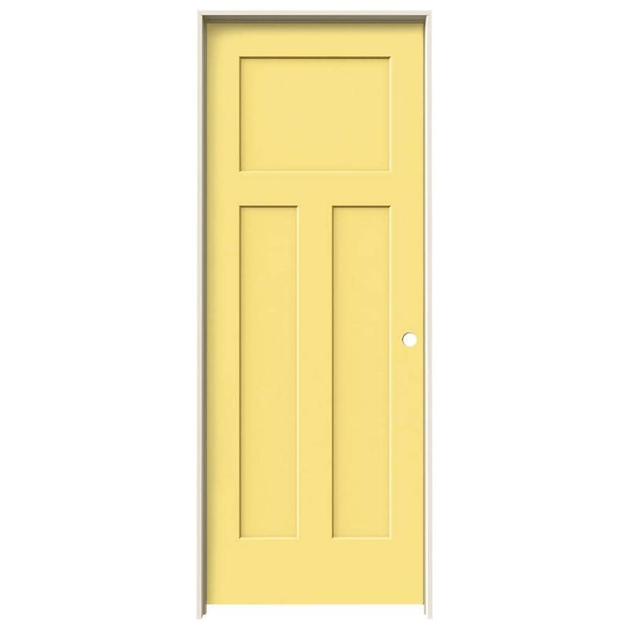 JELD-WEN Craftsman Marigold Solid Core Molded Composite Single Prehung Interior Door (Common: 24-in x 80-in; Actual: 25.5620-in x 81.6880-in)
