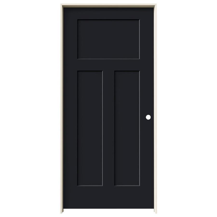JELD-WEN Craftsman Midnight Solid Core Molded Composite Single Prehung Interior Door (Common: 36-in x 80-in; Actual: 37.562-in x 81.688-in)