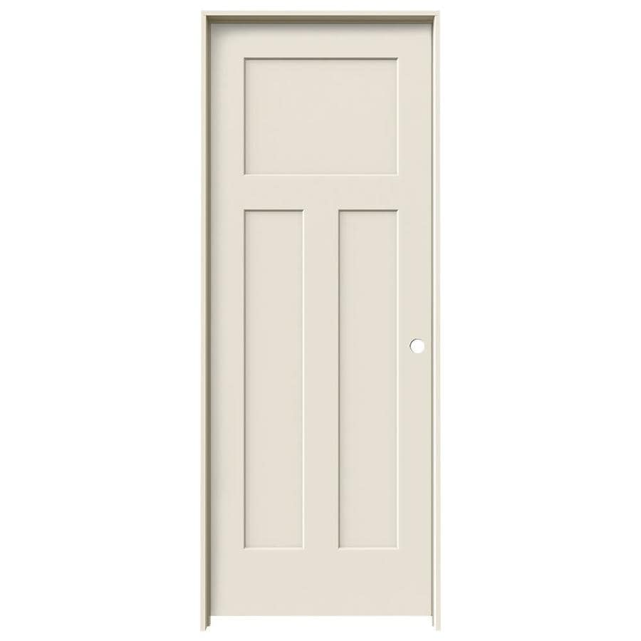 JELD-WEN Craftsman Primed Solid Core Molded Composite Single Prehung Interior Door (Common: 24-in x 80-in; Actual: 25.562-in x 81.688-in)