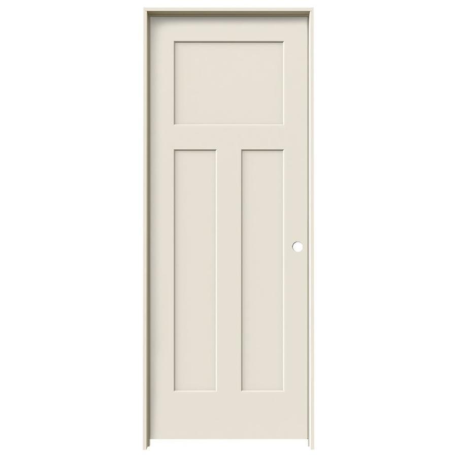 JELD-WEN Craftsman 3-panel Craftsman Single Prehung Interior Door (Common: 28-in x 80-in; Actual: 29.562-in x 81.688-in)